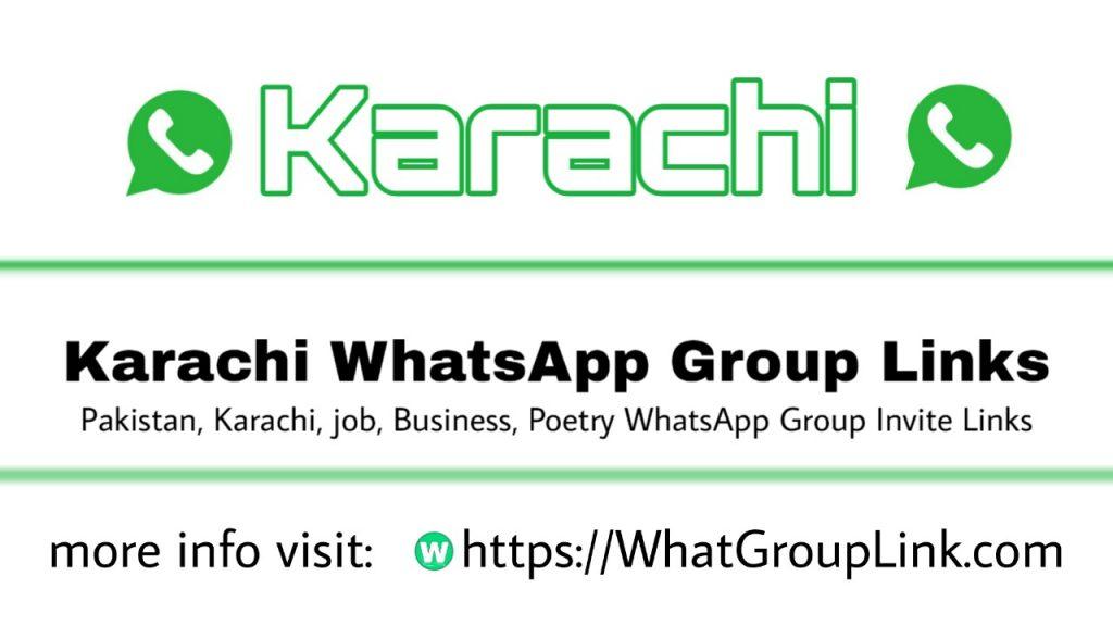 Karachi invite WhatsApp group links