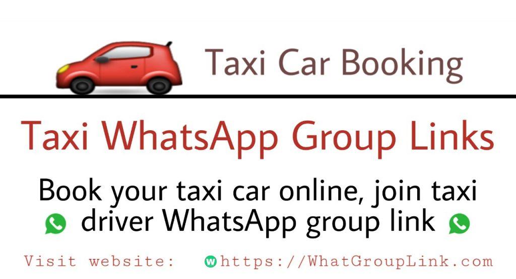Taxi WhatsApp Group Links