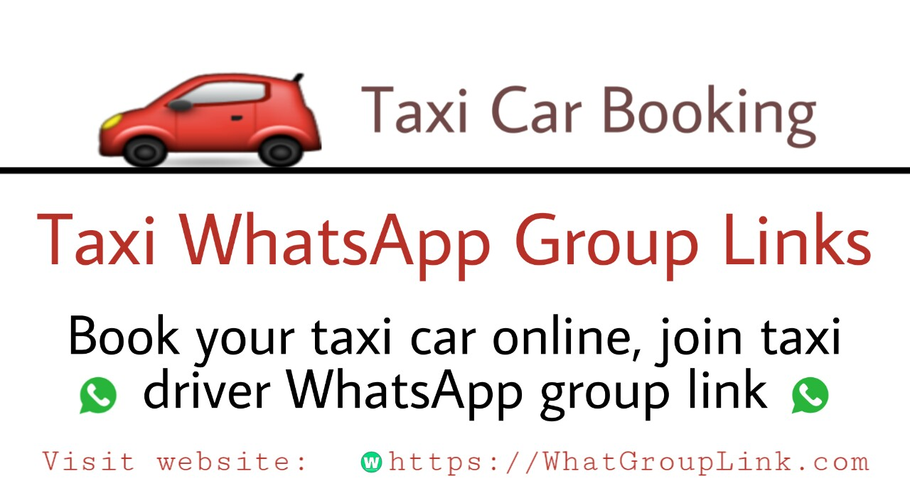 Taxi WhatsApp Group Links