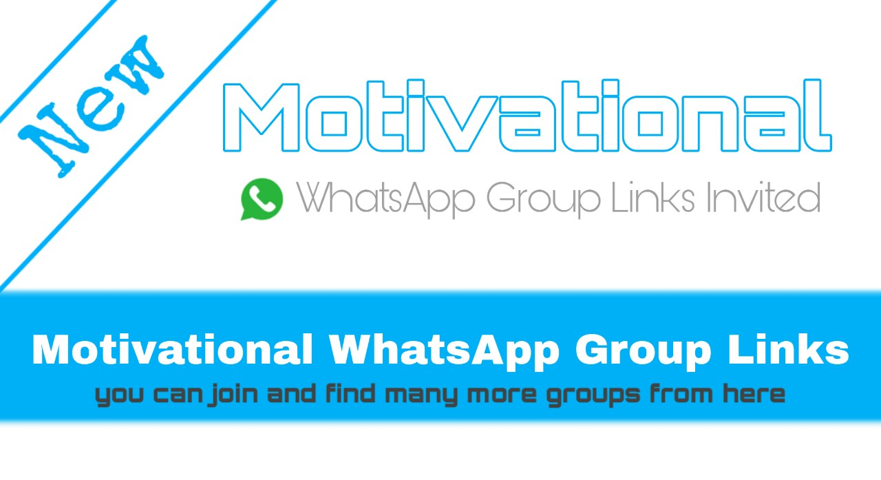 Motivational WhatsApp Group Links Join