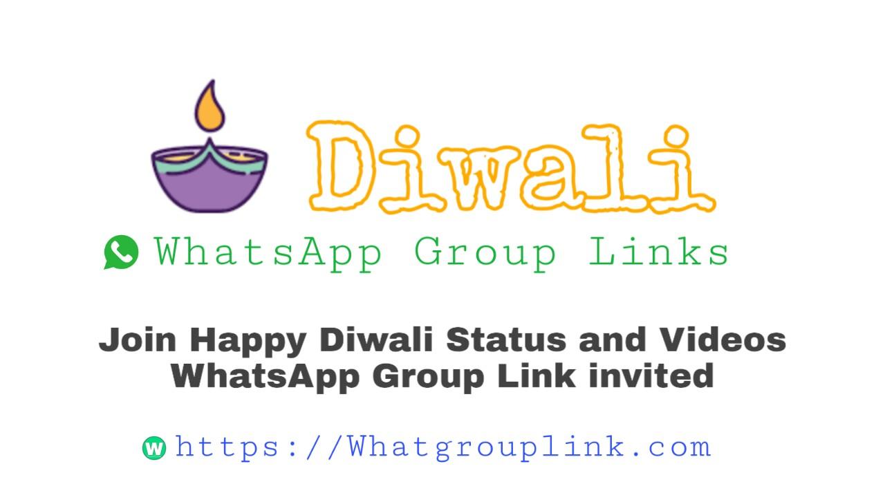 Diwali WhatsApp Group Link invite 2020 | Deepawali Status Groups