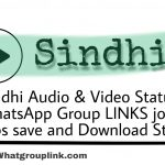 If you Want to Download Sindhi Status? Join Groups