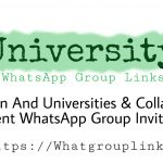 University WhatsApp Group Link