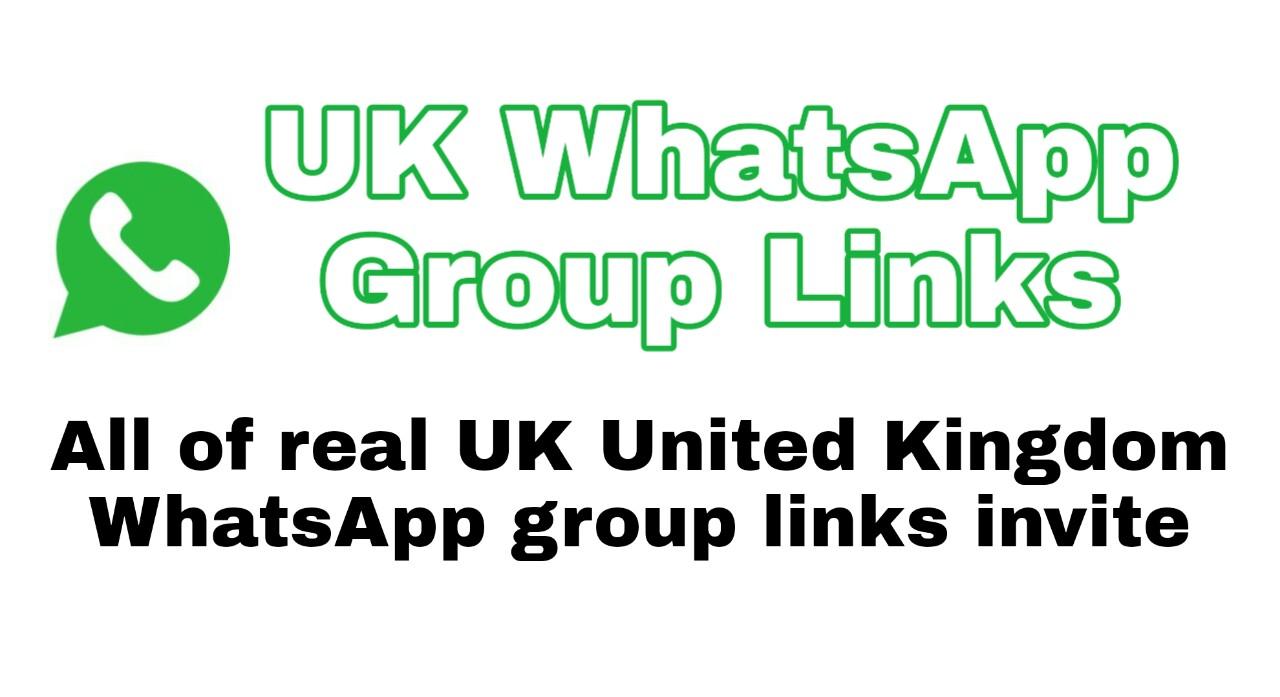UK WhatsApp Group Links 2021