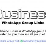 Business WhatsApp group links 2021