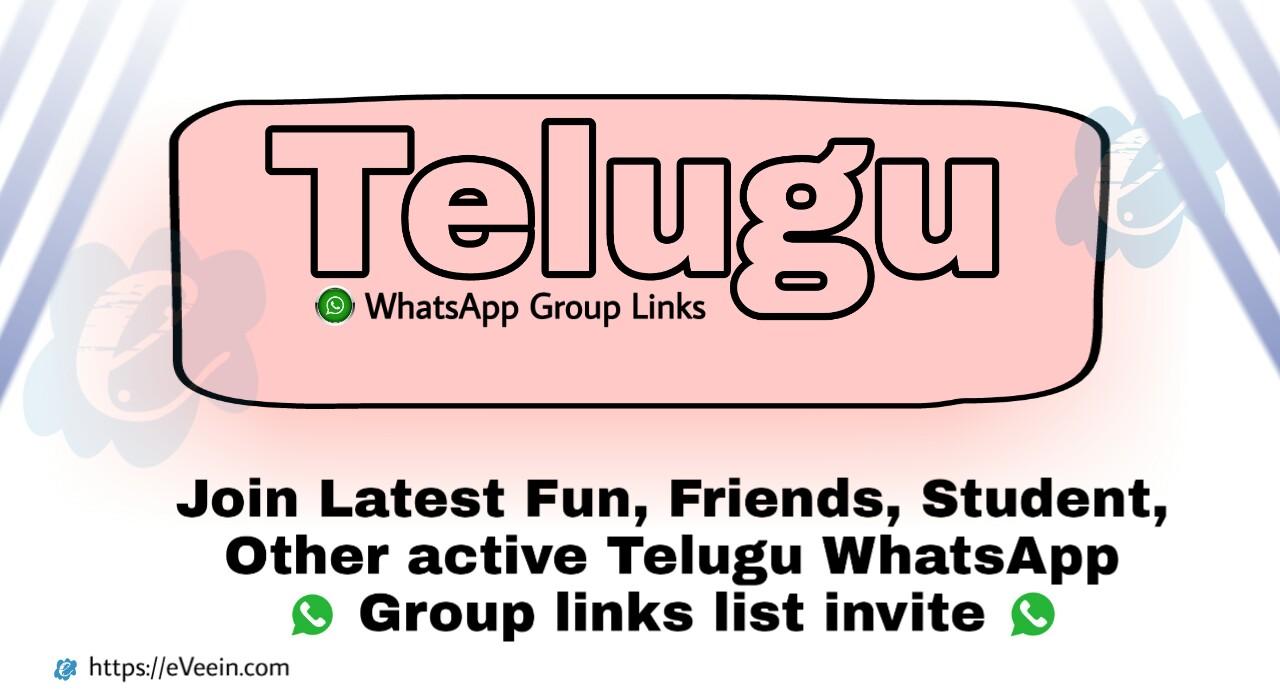 Telugu whatsapp group links 2021 invited